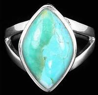 Роскошное кольцо с бирюзой Аризоны. Серебро 925