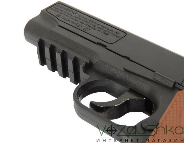 пневматический пистолет colt 1911 вид на подствольную планку пикантини