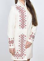 Нарядное кашемировое женское пальто