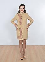 Пальто кашемировое женское с вышивкой