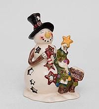 Эксклюзивный фарфоровый подсвечник Снеговик из коллекции Blue Sky купить недорого