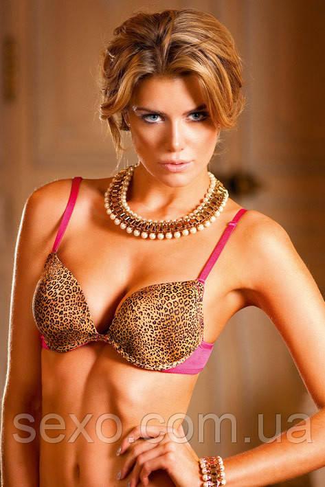 Бюстгалтер Leopard-Pink Push-Up Bra, 70А, 70В, 70С, 75В, 75С, 75D, 80B, 80C, 80D - Секс-шоп интернет-магазин SEXO.COM.UA в Кривом Роге