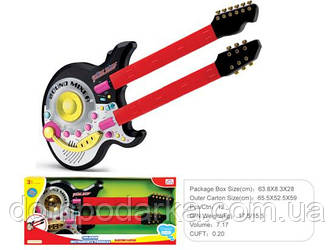 Детская гитара 59992Y с двумя грифами купить подарок ребенку Харьков