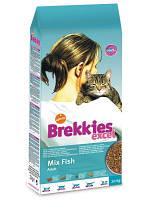 Brekkies Excel Mix Fish (Брекиз Эксель Микс Фиш) корм для взрослых кошек всех пород с рыбой 20 кг