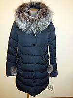Куртка женская зимняя с мехом чернобурка 16-152, фото 1