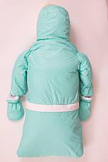 Теплый и практичный, удобный комбинезон тройка для новорожденных, фото 2