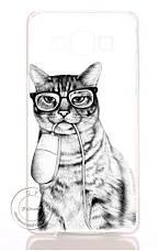 Чехол для Samsung Galax A7/A700 с картинкой мартовский кот, фото 3
