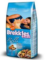 Brekkies Excel Rolls (Брекиз Эксель Ролс) корм для взрослых кошек всех пород 20 кг