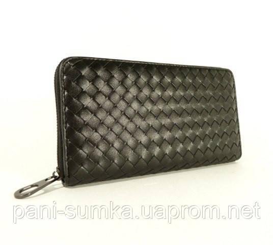 9274141580db Мужской кожаный клатч, кошелек Bottega Veneta 012-1 черный: продажа ...
