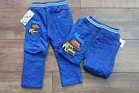 Утепленные котоновые брюки на флисе для мальчиков 1- 4 лет, фото 1