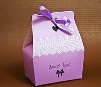 """Коробка """"Бонбоньерка-принцесса"""", цвет фиолетовый"""