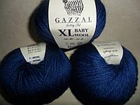 Gazzal Baby Wool XL (Газзал Беби Вул XL)  802 темно синий