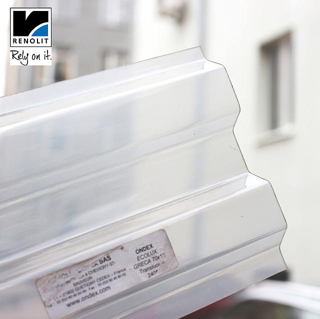 Молочный прозрачный шифер Ондекс 3*1,09м