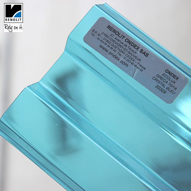 Синий прозрачный шифер Ондекс 3*1,09м