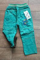 Утепленные котоновые брюки на флисе для мальчиков 1- 5 лет