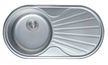 Мойка круглая c полкой (кепка) 840х440х180 SATIN