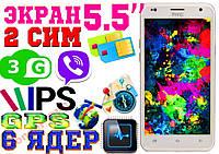 НОВИНКА HTC ONE! 6 ЯДЕР, ЭКРАН 5.5! 3G,IPS,3D,2СИМ