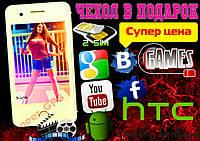НОВЫЙ HTC T6! 2СИМ+ЧЕХОЛ в ПОДАРОК! ГАРАНТИЯ!СУПЕР