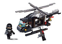 Конструктор SLUBAN M38 B1800 поліція, гелікоптер, фігурки, 219 дет., кор., 28,5-24-5,5 см, фото 1