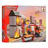 Конструктор AUSINI 21704 пожежна машина, будинок, фігурки, носилки, 374 дет., кор., 41-30,5-6 см.