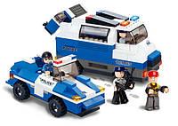 Конструктор SLUBAN M38-B0189 поліція, машина 2 шт., фігурки 3 шт., 337 дет., кор., 33-28,5-7 см