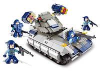 Конструктор SLUBAN M38-B0206 спецназ, військова машина, 273дет., муз., бат., кор., 42-28,5-6,5 см