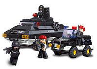 Конструктор SLUBAN M38-B2000 поліція, БТР, джип, фігурки 4 шт., 311 дет., кор., 33-28,5-6,5 см, фото 1