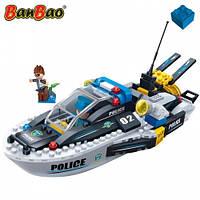 Конструктор BANBAO 7006 поліція, катер, фігурки, 225 дет., кор., 33-24-7 см, фото 1