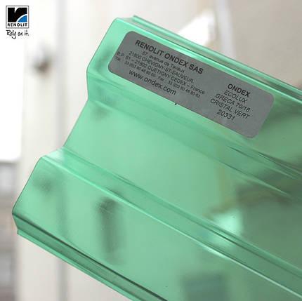 Зеленый прозрачный шифер Ондекс 3*1,09м, фото 2