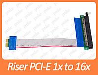 Райзер, Riser PCI-E 1x to 16x (удлинитель, шлейф)