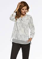Женская стильная блуза свободного кроя с длинным рукавом. Модель 220061 Enny, коллекция осень-зима 2016-2017.