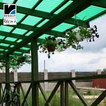 Зеленый прозрачный шифер Ондекс 3*1,09м, фото 3