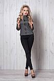 Костюм мод №269-10, размеры 44 Луи Витон серый, фото 3