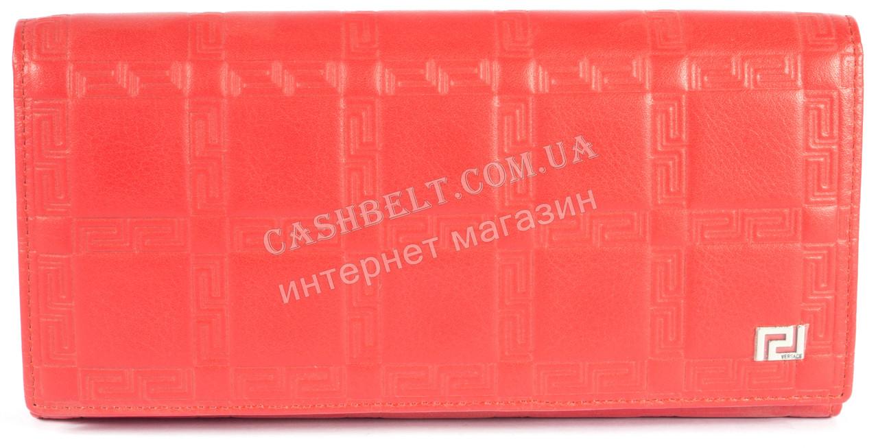 Оригинальный женский классический кошелек с очень качественной кожи  art. V-3801Е красный