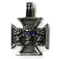 AST12 Крест мальтийский с черепами