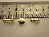 Хольнитен (заклёпка) односторонний 9 х 9 х 12 мм золото, фото 2