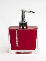 Дозатор для жидкого мыла Рома цвет красный, фото 1