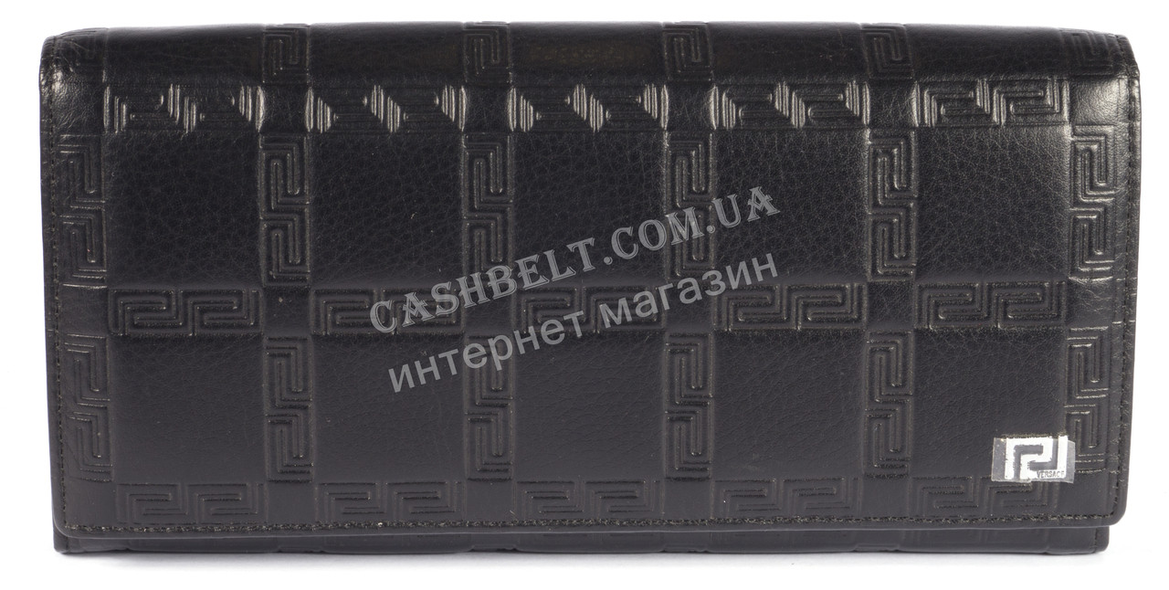 Оригинальный женский классический кошелек с очень качественной кожи art. V-3801А черный
