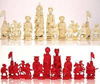 Шахматы Китай нач. XX-го века слоновая кость