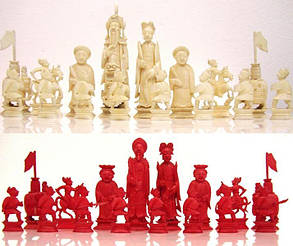 Шахматы Китай нач. XX-го века слон. кость, фото 2