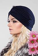 Женская шапка с вуалью 116 в расцветках