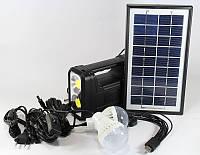 Фонарь с солнечной батареей GD 8038, комплект освещения, мощный аккумуляторный фонарь