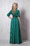 Платье женское мод 387-10 ,размер 54 красная клетка, фото 2