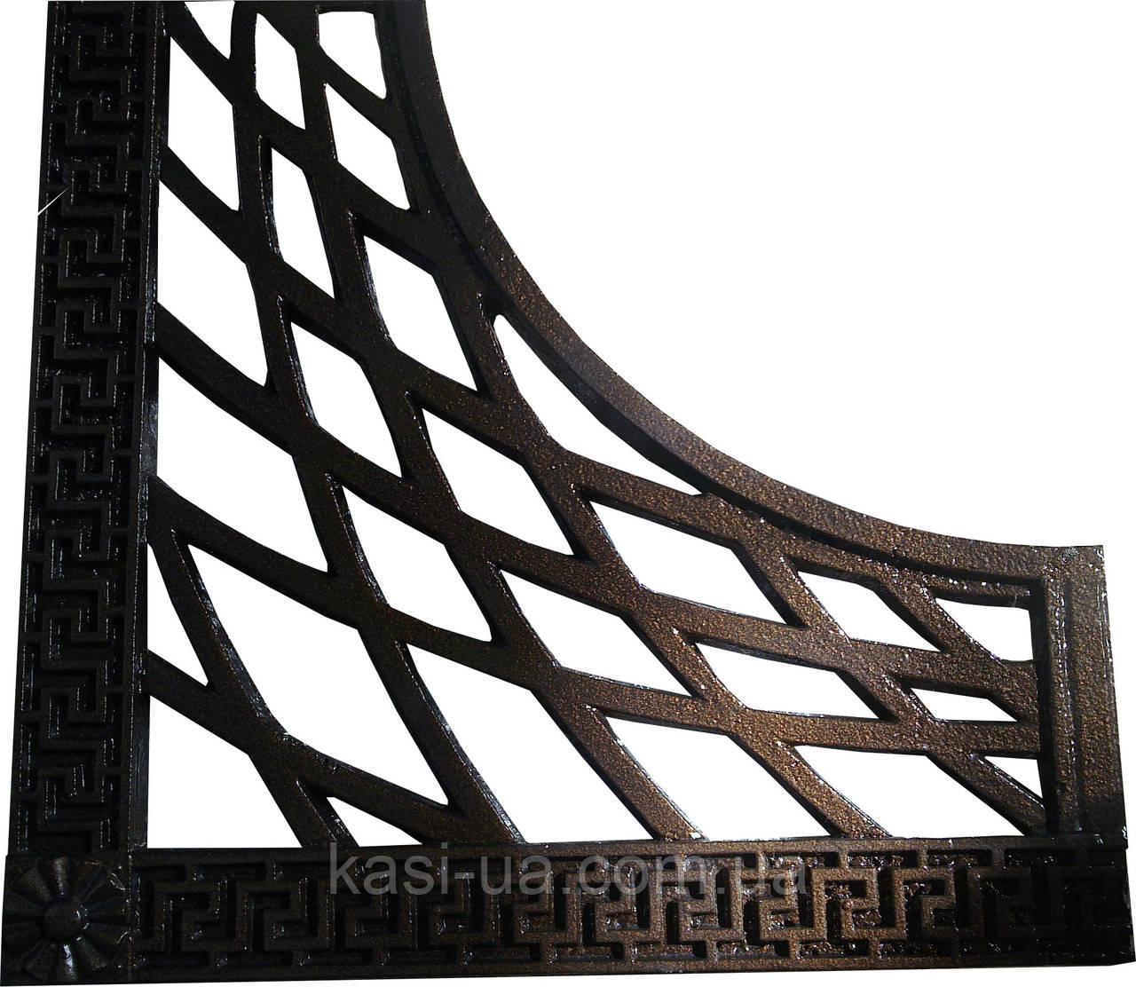 Пристовбурна чавунна решітка квадратна №3