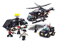 Конструктор SLUBAN M3-B2100 поліція, транспорт, муз., фігурки, 499 дет., кор., 42,5-33-7 см