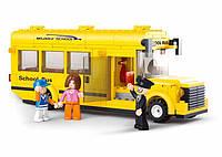Конструктор SLUBAN M38-B0507 місто, шкільный автобус, фігурки, 219 дет., кор., 33-24-5,5 см