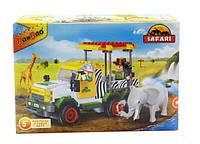 Конструктор BANBAO 6657 сафарі, машинка, фігурки, тварини, 248 дет., кор., 28-19-5,5 см