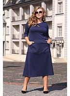Женское платье осень-весна Турция размер 48-70 / для полных девушек