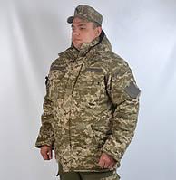 Теплий армійський камуфльований бушлат з  капюшоном  Української армії  , фото 1