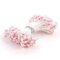 Тычинка  3 мм  Цвет бледно розовая